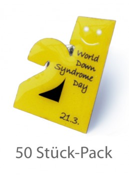 "Anstecker/Pin ""World-Down Syndrome Day"" (50 Stück)"